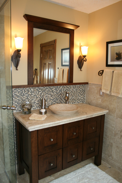 Custom built bathroom cabinetry from Northland Cabinets in the Twin ...